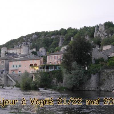 Séjour à Vogüé 21/22 mai 2019